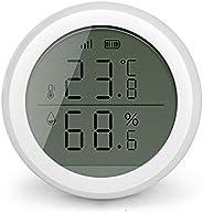 Mainstayae Tuya Smart Zigbee Temperature Humidity Sensor with LCD Screen High Accuracy T&H Sensor Work wit