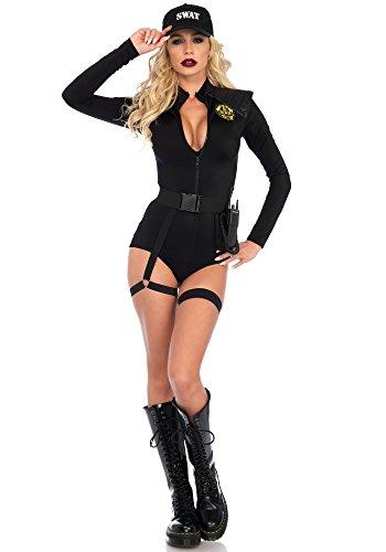 t Team Babe Kostüm, Schwarz, Small (EUR 36) (Swat Damen Kostüme)