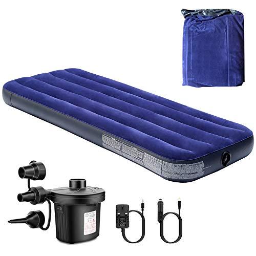XianRui Luftbett, Classic Queen Camping Luftmatratzen Premium-Luftmatratze aufblasbares Single Luftbett ür eine Person mit eingebauter Fußpumpe -