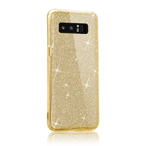 Custodia Samsung Galaxy Note 8 / Galaxy Note8 2017 6.3 Cover Case , Vandot [360 gradi] 3 in 1 Protezione Completa Glitter Sparkle Bling Bling Trasparente Custodia per Samsung Galaxy Note 8 / Galaxy N 360 Oro