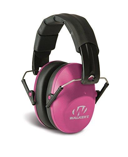 Walkers Game Ear Pro-Low Profile Folding Muff (Pink) by Walker's Game Ear