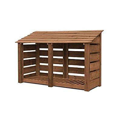 Normanton Wooden Log Store/Garden Storage - Heavy Duty With Pressure Treated Wood