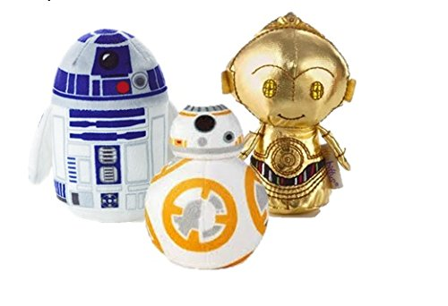 Hallmark Star Wars Itty Bitty Set Of 3 BB-8, R2-D2 and C-3PO Soft Toys