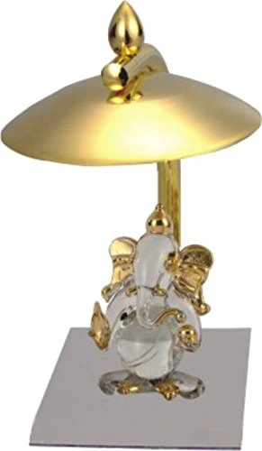 Deals Outlet Brass & Stainless Steel Ganesh Ji Showpiece Figurine For Diwali Gift, Small Temple, Spiritual Décor, Festive Décor, Divine Lord Ganesha Idol, Bhagwanji Gifts, Spiritual Gifts, Gift Set, Cheap Gifts, Tabletop, Car, Table Clock, Corporate Gift  available at amazon for Rs.525