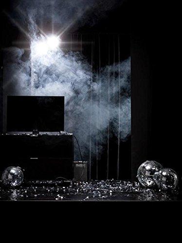 Kommode in schwarz und schwarzem Glas, schwarze Stoffklappe u. 1 Schubkasten, Maße: B/H/T ca. 109/66/50 cm, Füße, H: ca. 9 cm u. Glas-Abdeckplatte - 6