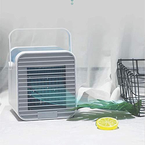 ZHENHAO Mini Luftkühler, Tragbare USB Luftkühler 3 in 1 Air Cooler Luftbefeuchter Luftreiniger Mobile Stummschaltung (Tankinhalt 350ML) für Home Bedroom Office Desktop (X20x1 15 Klimaanlage Filter)