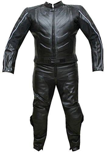 classyak Herren Moto Rindleder schwarz Biker Leder Anzug Gr. XXXXX-Large, Cow Black (Racing Kostüm Für Männer)