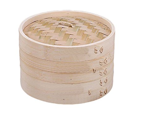 Handmade Bambusdämpfer Gedämpft Bun Dampfgarer Küche Wesentliche Kreisförmige Bambusdämpfer...