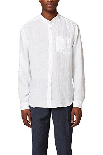 Esprit 048ee2f008, camicia uomo, bianco (white 100), x-large