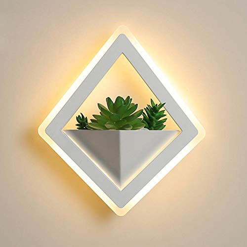 Luce Led Dannosa.Jfhgnj Lampara De Pared Plant Wall Lamp Bedside Bedroom Wall Lamp Living Room Simple Modern Aisle Modern Indoor Led Wall Lamp