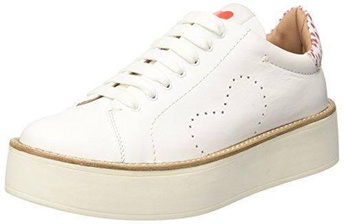 Twin-Set Cs7pj1, Sneakers basses femme Multicolore (Bianco Seta/Ultra Red)