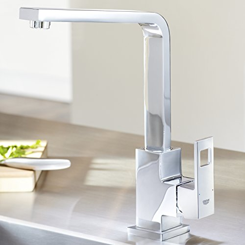 Grohe – Eurocube Küchenarmatur, Schwenkbereich 360°, hoher Auslauf, Chrom - 5