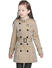 Free Fisher Kinder Mädchen Basic Zweireiher Trenchcoat Übergangsjacke