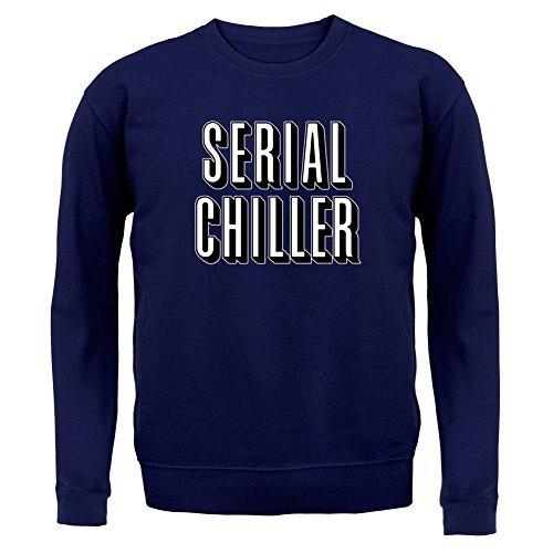 Serial Chiller - Unisex Pullover/Sweatshirt - Navy - S (Netflix Und Chill Halloween Kostüm)