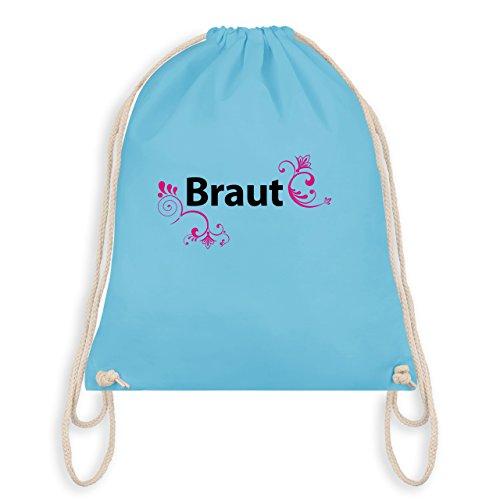 JGA Junggesellinnenabschied - Braut - Turnbeutel I Gym Bag Hellblau