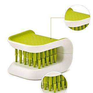 L-DiscountStore Essstäbchen Gabel Reinigungsbürste Geschirrreinigungsbürste Küchenbedarf Reinigungsgerät grüner Pinsel grün