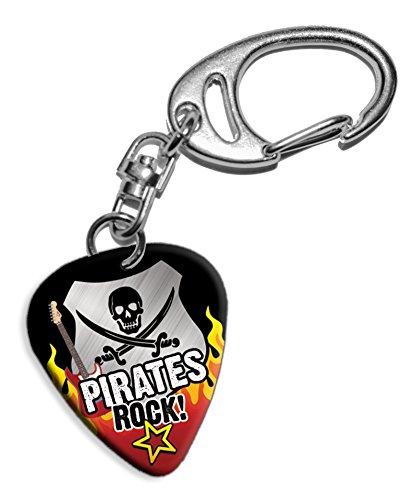Pirate Pirates Rock Gitarre Plektrum Pick Schlusselanhanger Keyring (R1)
