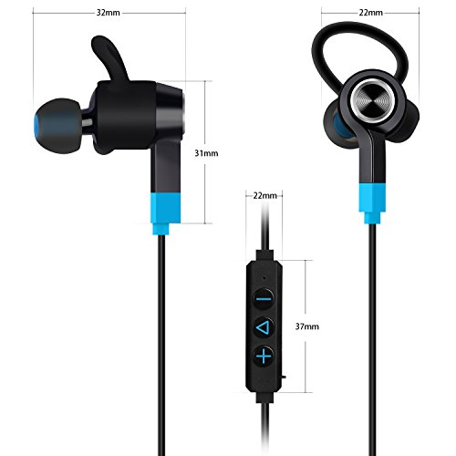 mixcder wireless bluetooth in ear kopfh rer kabellos stereo headset f r joggen workout. Black Bedroom Furniture Sets. Home Design Ideas