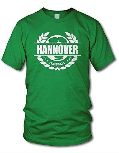 shirtloge - Hannover - Fussball Lorbeerkranz - Fan T-Shirt - Grün - Größe XXL