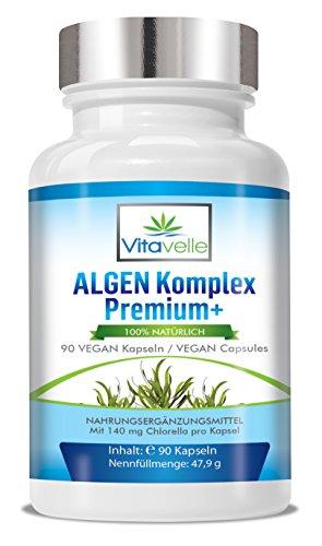 Echinacea-mix (ALGEN Komplex Premium+ 90 hochdosierte VEGAN Kapseln I Hochwertiger Superfood Mix für das Immunsystem I Chlorella + Spirulina + Grüner Tee + Echinacea + Vitamin C I Ohne Zusatzstoffe)