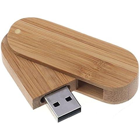 Toraway pérdida de impedir la rotación de la cubierta de madera U-disco USB 2.0 de alta velocidad de almacenamiento Flash Drive Memory Stick (4 GB 8 GB 16 GB 32 GB 64 GB) (4GB)