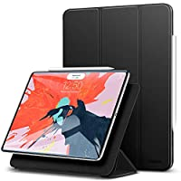 "ESR Yippee Magnetic Smart Case for The iPad Pro 11"" 2018, [Support Apple Pencil Charging] Trifold Stand Case, Magnetic Attachment, Auto Sleep/Wake, Rubberized Cover for The iPad Pro 11"" 2018, Black"