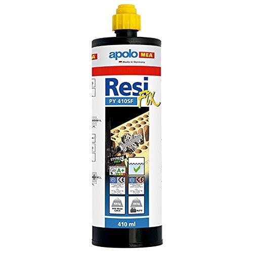 Apolo Mea 410Cr - Taco Químico Poliester 410 Ml Tipo Resifix Py 410 Con 1 Cánula, 1 Unidad