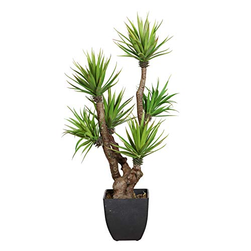wohnfuehlidee Kunstpflanze Agave, Farbe grün, inklusive Kunststoff-Topf, Höhe ca. 60 cm