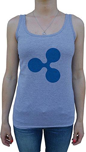 Erido Ripple XRP Femme Débardeur T-Shirt Cou D'équipage Gris Manches Courtes Toutes les Tailles Women's Grey All Sizes Gris