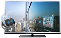 "Philips 4000 series 46PFL4508K 46"" Full HD 3D Smart TV Wi-Fi Black,Silver - LED TVs (Full HD, 802.11n, A++, 16:9, 16:9, Auto, Zoom, 1080p)"