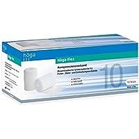 Höga-Flex 10 cm x 4 m, Kompressionsverband, latexfrei, naturweiss 10 Stück pro Packung, 1er Pack (1 x 10 Stück) preisvergleich bei billige-tabletten.eu