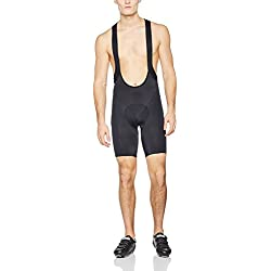 Gore BIKE WEAR Mono corto Hombre, Ciclismo en carretera o MTB, Badana, Transpirable, Selected Fabrics, Bibtights short+, Talla S, Negro, WELEPL990003