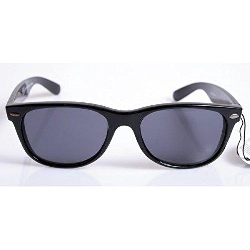 Occhiali da sole Dunlop Vintage - Montatura Nera - Frog Wayfarer / Home Shop Italia (Montatura nera e lenti grigio scuro)