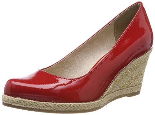 Marco Tozzi 2-2-22440-22, Zapatos con Plataforma para Mujer, Rojo (Red Patent 524), 37 EU