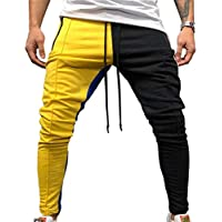 Pantalones de Moda para Hombres Jogger Stadium Gymnasium Colorful Striped Casual Matching Color Pants