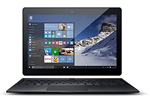 Odys Winpad 10 2in1 25,7 cm (10,1 Zoll) Convertible Tablet-PC (Intel Atom Quadcore Z3735F, 2GB RAM, 32GB Flash HDD, Win 10) schwarz