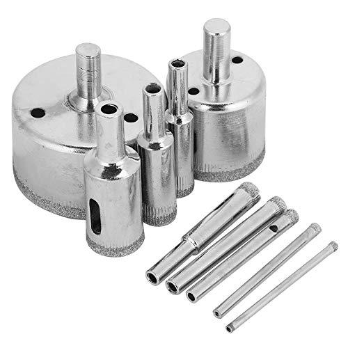 10 Teile/Satz Diamant Coated Core Bohrer Lochsäge Kit für Fliesen Keramik Porzellan Marmor