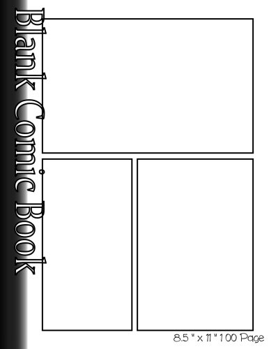 """Preisvergleich Produktbild Blank Comic Book Pages-Blank Comic Strips-3 Panels,  8.5""""x11"""", 100 Pages: Create Your Own Comics With Blank Multi Panels Drawing Paper"""