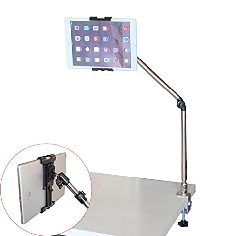 Sturdy Tablet Stand, Universal Desktop and Bed Steel Holder for iPad, Tablets & Cell Phones, 1 Year