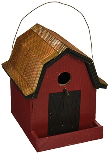 Songbird Essentials 008115 Little Red Barn birdhouse, Rouge/cuivre de toit