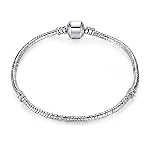 Charm Buddy 18cm Teens Young Adult Charm Bracelet Silver Plated