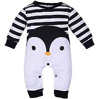 Xinantime Bebé recién nacido Boy manga larga de dibujos animados Print Romper Jumpsuit trajes de pijamas