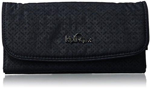 Kipling - Supermoney, Portafogli Donna Nero (Basket Shimmer)