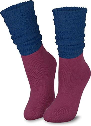 Brubaker Slouch Socks Schoppersocken Fitness Aerobic Socken schwarz Größe 35-38