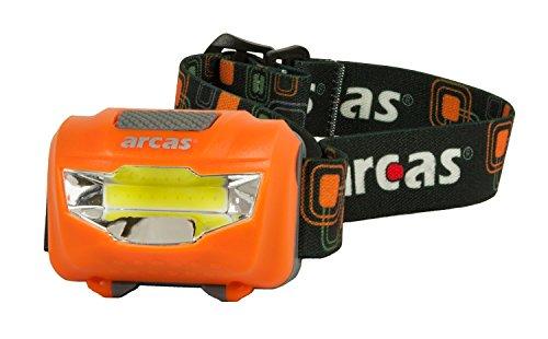 Arcas–Lámpara LED frontal, plástico, plástico, weiß/grün, orange/grau, 3.0 x 6 x 4.2...