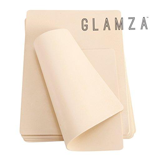 Glamza - pelle sintetica per pratica tatuaggi, foglio vuoto, 20cm