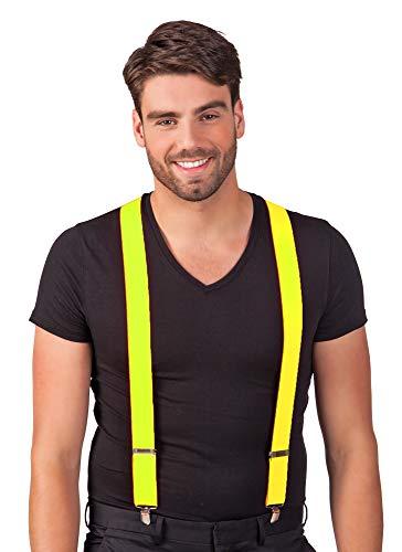Das Kostümland Hosenträger Michel Neon Gelb