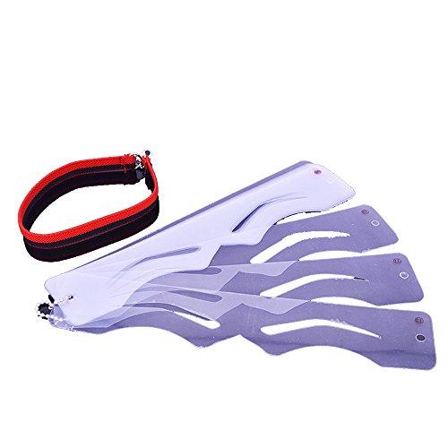 asentechuk® 12Stück/Set Korean Style Augenbrauen Karte Vorlage Schablone Drossel Anfänger DIY Beauty Make Up Styling Werkzeug Red belt