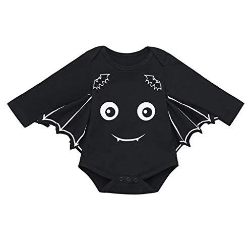 Kleinkind Kostüm Bat - BaZhaHei Halloween Kostüm Kleiner Neugeborenes Baby Mädchen Halloween Cartoon Bat Kostüm Strampler Outfits Festival Cosplay Halloween Outfits Set