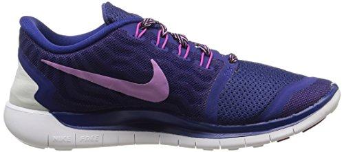 Nike Free 5.0  Damen Laufschuhe Mehrfabig (Deep Royal Blue/Fuchsia Glow-Fuchsia Flash)